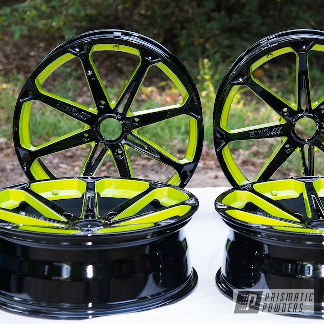 Powder Coating: Wheels,Automotive,Alloy Wheels,Clear Vision PPS-2974,Ink Black PSS-0106,M12 Diesel,Polaris,Illusion Shocker PMB-10050,Polaris RANGER