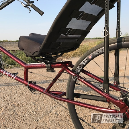 Powder Coating: Bicycles,Ink Black PSS-0106,Rans,Super Red Sparkle PPB-4694,Bicycle,Frame,Phoenix