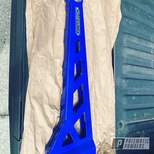Powder Coating: Clear Vision PPS-2974,Illusion Blueberry PMB-6908,Trac Bars,Automotive Parts