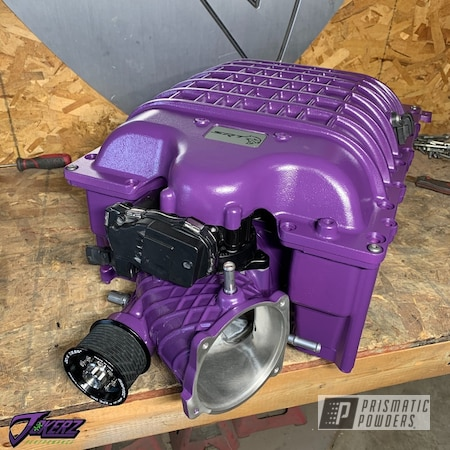 Powder Coating: Automotive,Challenger Hellcat,Dodge,Car Parts,Supercharger,RAL 4005 Blue Lilac,Trackhawk,Hellcat Challenger,Redeye,Hellcat,Demon,Hellcat Charger,IHI Supercharger