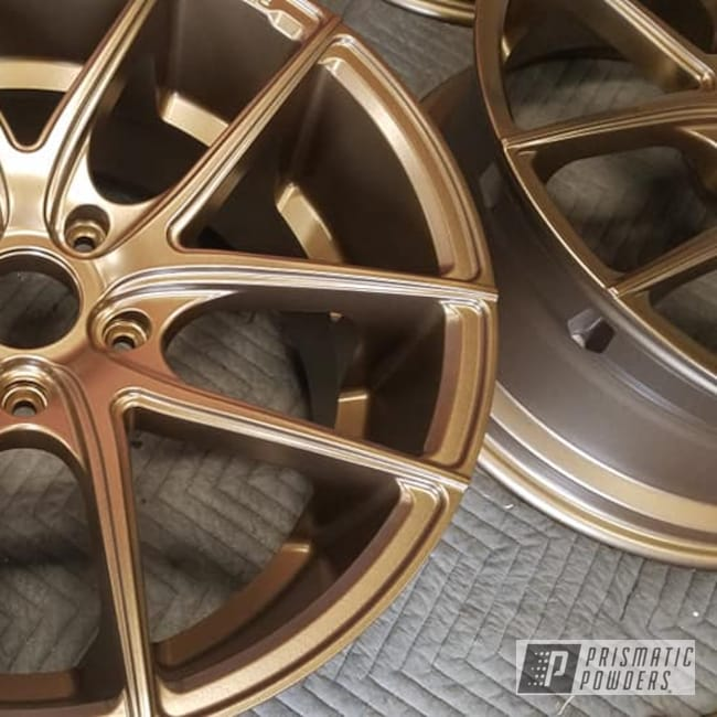 "Powder Coating: Wheels,Automotive,Aluminum Rims,Toyota,19"" Aluminum Rims,Automotive Rims,Highland Bronze PMB-5860,Automotive Wheels"