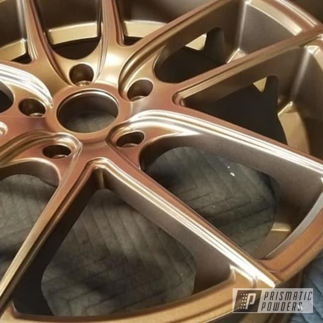 "Powder Coating: Wheels,Automotive,Aluminum Rims,Toyota,19"" Aluminum Rims,Automotive Rims,Highland Bronze PMB-5860,Automotive Wheels"