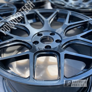 Powder Coated Avant Garde Wheels In Pmb-4156 And Pts-5792