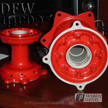 Mx Hubs Coated In Passion Red