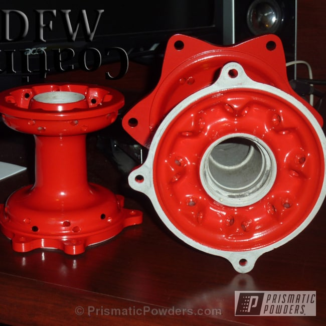 Powder Coating: Passion Red PSS-4783,Automotive,Dirt Bike Parts,MX Hubs,Wheel Hub,Dirtbike Hubs,dirt bike