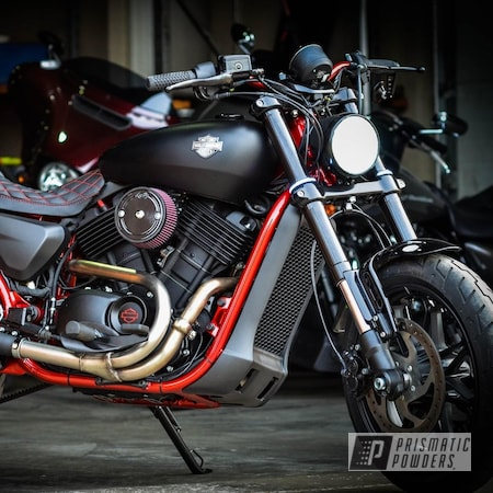 Powder Coating: Automotive,Harley Davidson,Motorcycle Frame,LOLLYPOP RED UPS-1506,Motorcycles,Frame