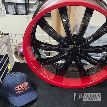 Powder Coated Dodge Rims Powder Coated Two Toned Rim In Pss-0106 And Pss-0105