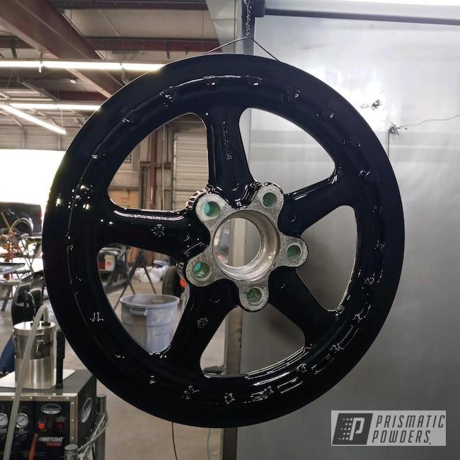 Powder Coating: Wheels,Automotive,Harley Davidson Parts,Harley Davidson,Ink Black PSS-0106,Motorcycles,Drive Belt Pulley