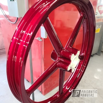 Powder Coated Harley Wheels In Pps-2974 And Pmb-6905