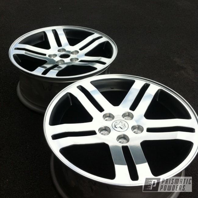 Powder Coating: Card Black PSS-1523,Wheels,SUPER CHROME USS-4482,chrome,SRT Charge Wheels Replica