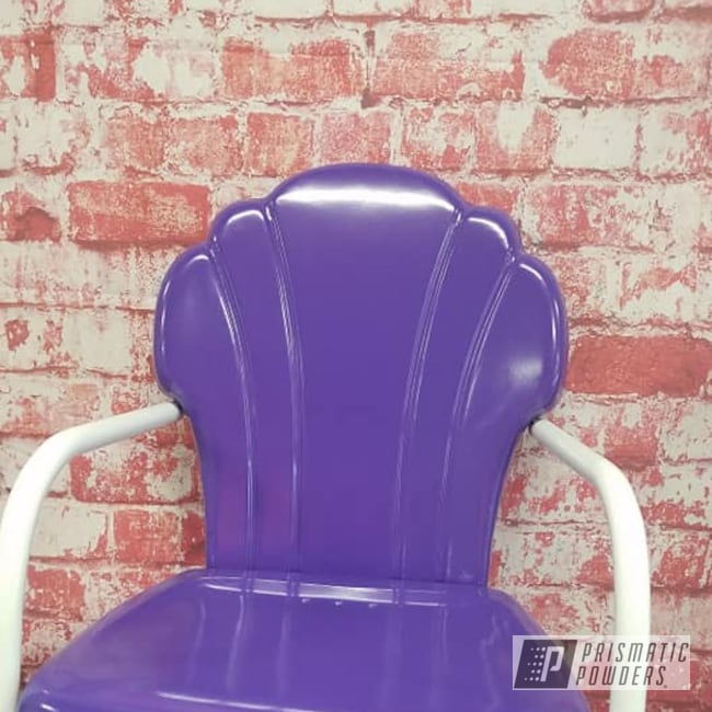 Powder Coating: Patio Chairs,Outdoor Furniture,Purple,Seashell Chair,Gloss White PSS-5690,Outdoor Chair,Lawn Chair,Crimson Purple PMB-2054,lawn furniture,vintage patio chair