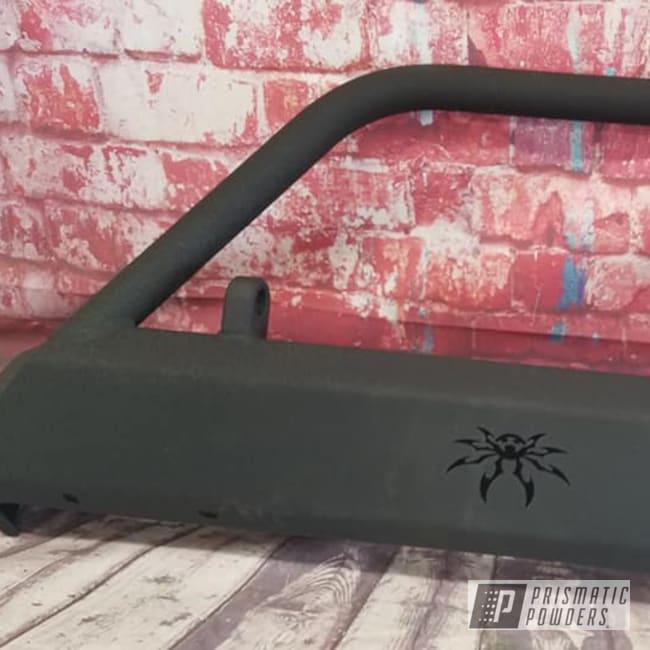 Powder Coating: Splatter Black PWS-4344,Automotive,custom bumper,Splatter Black,Bumper,Front Bumper,Automotive Parts