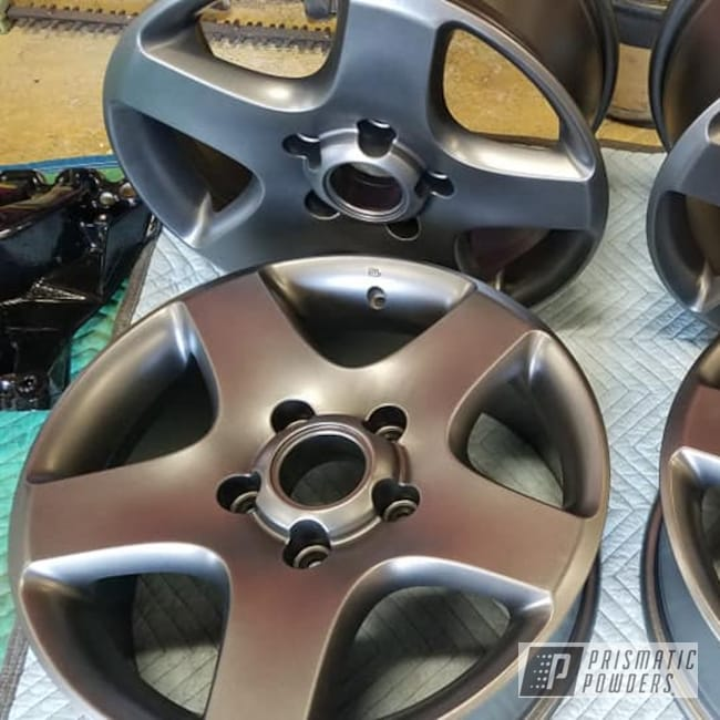 "Powder Coating: Wheels,Automotive,Evo Grey PMB-5969,17"" Aluminum Rims,Aluminum Rims,Aluminum,Automotive Rims,Automotive Wheels,Aluminum Wheels"