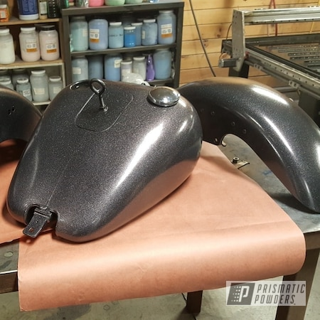 Powder Coating: Automotive,Harley Davidson Parts,Clear Vision PPS-2974,Coal PCB-1112,Motorcycles