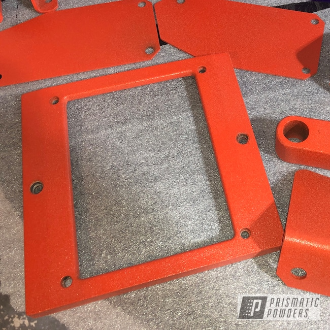 Powder Coating: Custom,X1-Reaper Powder Coating System,Powder Coating Machine,parts,Stark Orange Texture PTB-8141