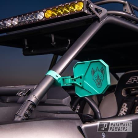 Powder Coating: Automotive,cuero,UTV,Chupacabra,Mirrors,Tropical Teal PMB-5688,Casper Clear PPS-4005