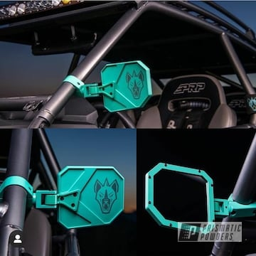 Powder Coated Utv Mirrors In Pmb-5688 And Pps-4005