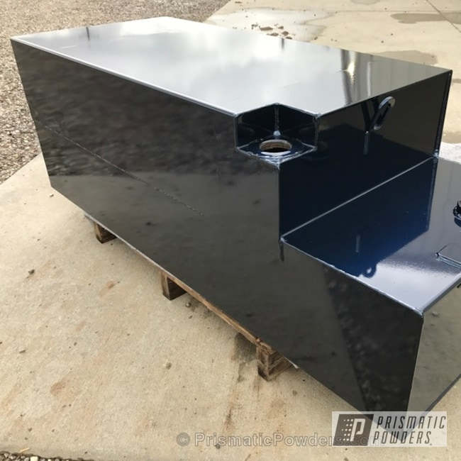 Powder Coating: Custom,Automotive,Fuel Tank,Clear Vision PPS-2974,Clear Coat Used,Solid Tone