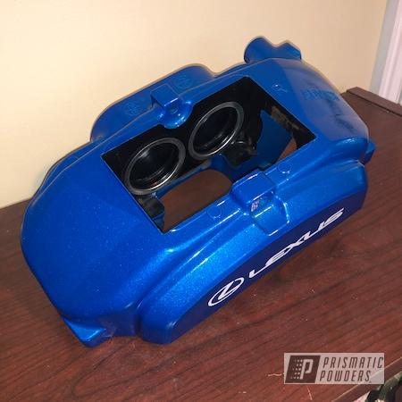 Powder Coating: Illusion Blue-Berg PMB-6910,Automotive,Calipers,Lexus,Clear Vision PPS-2974,Brakes,Brake Calipers,Lexus IS,Lexus ISF