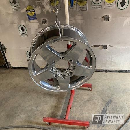 Powder Coating: Wheels,Automotive,Alloy Wheels,SUPER CHROME II PSS-10300,Aluminum,GMC