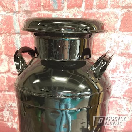 Powder Coating: Dairy Farm,Cream Can,Vintage Cream Can,Milk Can,Ink Black PSS-0106,Vintage,Antiques