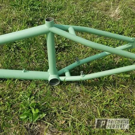 Powder Coating: Bicycles,Bike Frame,Bike,Casper Clear PPS-4005,Bicycle,Bicycle Frame,RAL 6021 Pale Green