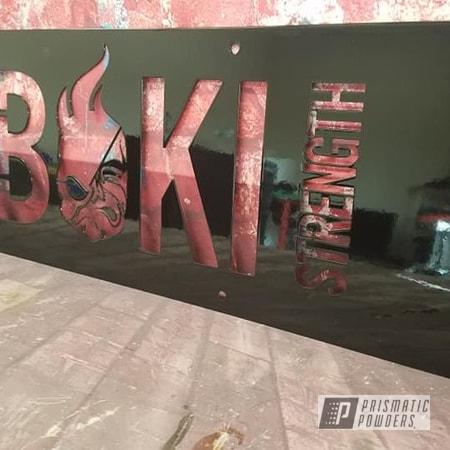 Powder Coating: Metal Art,Ink Black PSS-0106,Ghost Strong,Custom Logo,Weight Equipment
