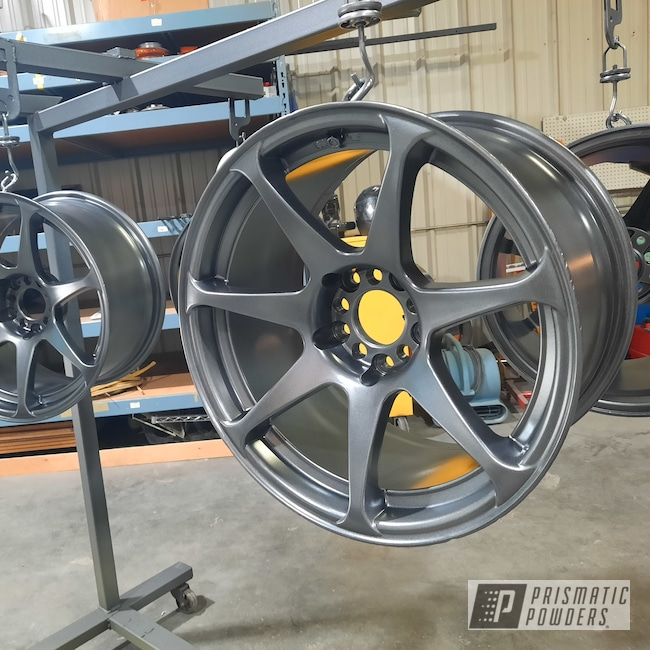 "Powder Coating: Wheels,Automotive,Speedway Grey PMB-4911,18"" Aluminum Rims"