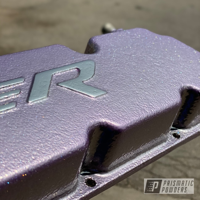 Powder Coating: Automotive,Viper,Pearl Lavender PPB-6384,srt10,Dodge,SUPER CHROME II PSS-10300,Car Parts,Valve Cover
