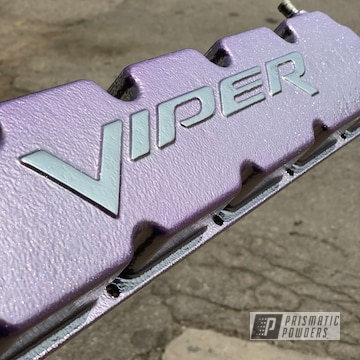 Powder Coated Dodge Viper Valve Cover In Ppb-6384 And Pss-10300