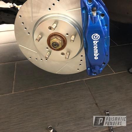Powder Coating: Automotive,Brembo,Iced Candy Blue PPB-7086,Brake,Brembo Brake Calipers