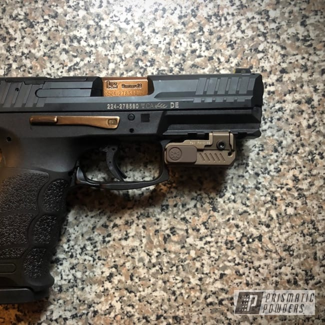 Powder Coating: Handgun,Heckler & Koch VP9,Gun,9mm,Sable Brown II PPB-5972