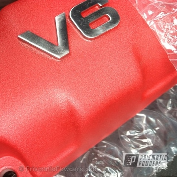 Mitsubishi Valve Cover Coated In Phone Red Powder Coat