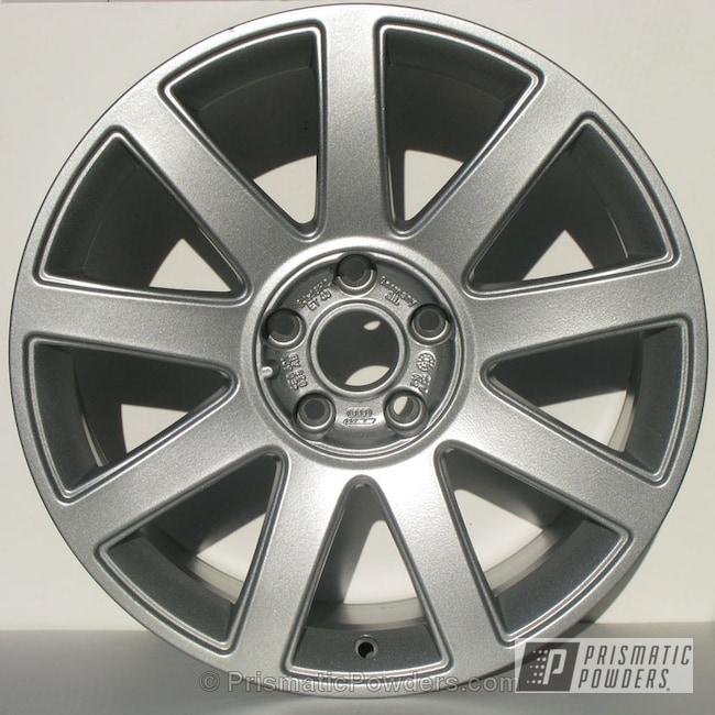 Powder Coating: Wheels,Custom,Silver,Audi Wheels,powder coating,powder coated,Prismatic Powders,Crushed Silver PMB-1544