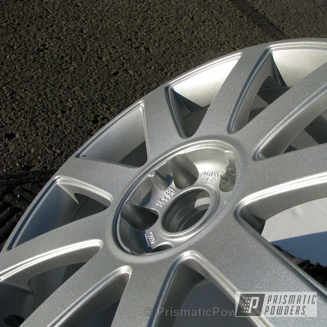 Powder Coating: Wheels,Custom,Audi Wheels,silver,powder coating,powder coated,Prismatic Powders,Crushed Silver PMB-1544