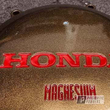 Powder Coated Honda Engine Cover In Psb-6500 And Pmb-4124