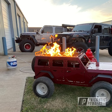 Powder Coated Jeep Themed Fire Pit In Pps-2974 And Pmb-6905