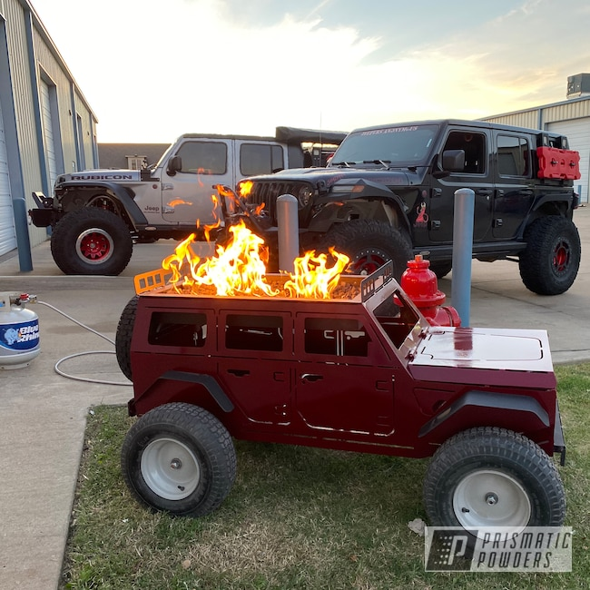 Powder Coating: Clear Vision PPS-2974,Firepit,Illusion Cherry PMB-6905