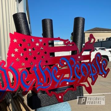 Powder Coated We The People Flag Holder
