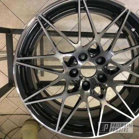 Powder Coating: Wheels,Matte Black PSS-4455,Automotive,Alloy Wheels,BMW,M3,Tinted Clear II PPB-5680