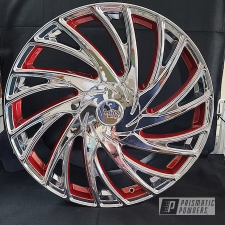 Powder Coating: Wheels,Illusion Orange Cherry PMB-5509,Automotive,Clear Vision PPS-2974,Rims,Porsche,Aluminum,Porsche Panamera