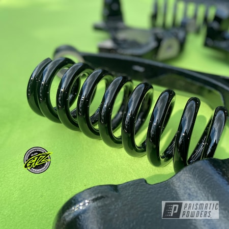 Powder Coating: Suspension Parts,Stone Black PSS-1168,Ink Black PSS-0106,coil springs,Suspension