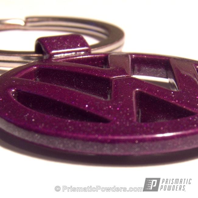 Powder Coating: GRAPE MADNESS UPB-1763,Custom,VW Keychain,Purple,powder coating,powder coated,Prismatic Powders,Miscellaneous