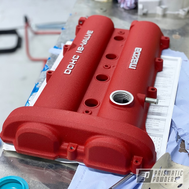 Powder Coating: Custom,Automotive,Red,Mazda,Car Parts,Desert Red Wrinkle PWS-2762,Valve Cover