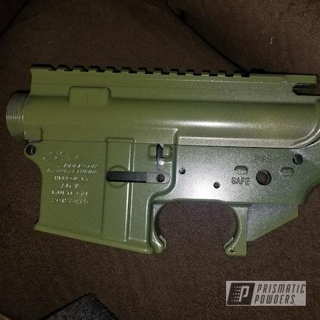 Powder Coating: Custom,AR15,ARMY,parts,Army Green PSB-4944