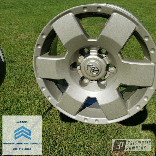 "Powder Coating: Automotive,Alloy Wheels,Tundra,20"" Wheels,Four Winds Grey PMB-5984,Toyota"