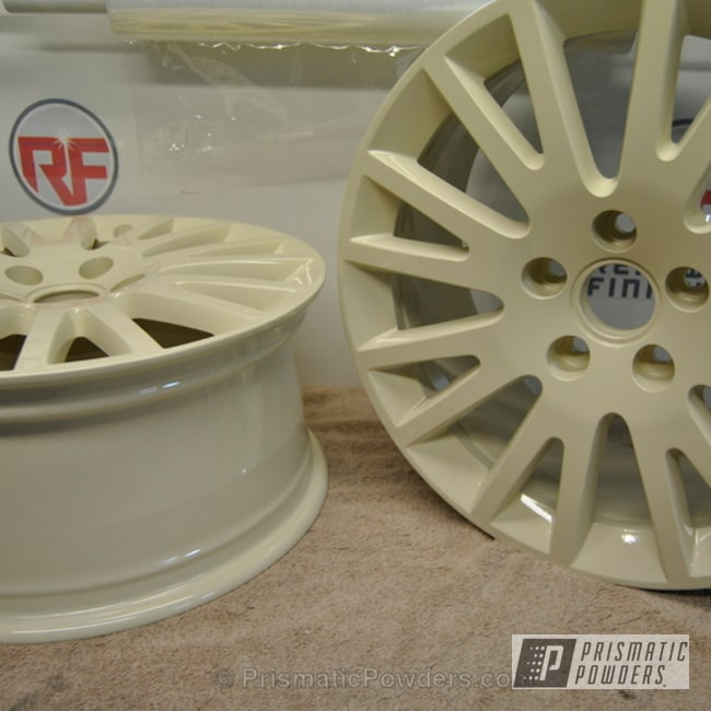 Powder Coating: Wheels,OEM Audi A3 Wheels,Clear Vision PPS-2974,Almond Delight PSS-2643