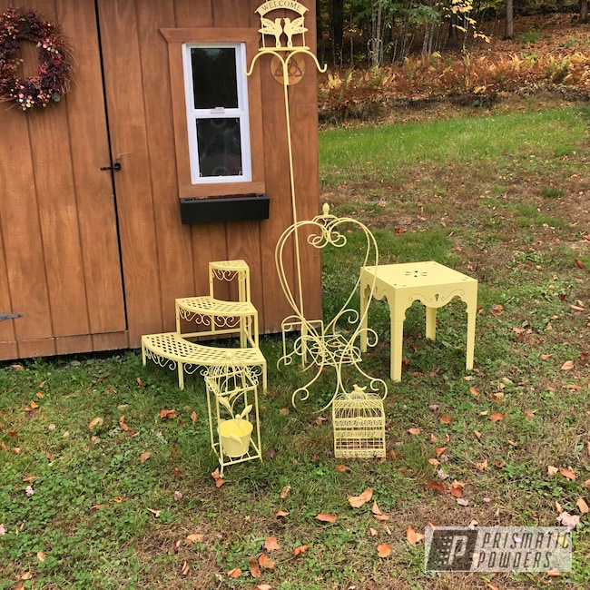 Powder Coating: Metal Art,Yard Art,BUTTERCUP PSB-2949,Yard Decor,Yard Furniture