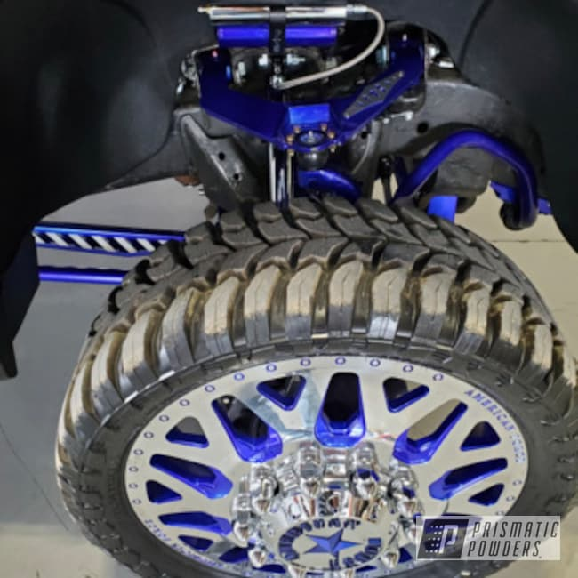 """Powder Coating: Automotive,Accessories,SUPER CHROME II PSS-10300,parts,Aluminum,2020 Dually,GMC,Intense Blue PPB-4474,Car Parts,26"""" Rims Lift Kit,Suspension,All the suspension and Wheels"""