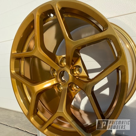 Powder Coating: Wheels,z28,Automotive,SUPER CHROME II PSS-10300,Transparent Gold PPS-5139,Chevy,Camaro,Aluminum Wheels